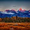 Dawn At the Tetons