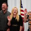 Landon Lembitz, Mickey Sanderson and Yevgeniy Sokolov laugh as they prepare to be sworn in as graduates of the Laramie County Fire District 2 volunteer fire academy Wednesday, Nov. 6, 2019 at LCFD2 Station 2. Nadav Soroker/Wyoming Tribune Eagle