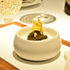 Perle Imperial Caviar with Croutons, Coffee, Hazelnut and Oyster