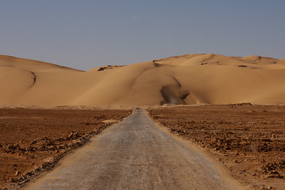 Sand dunes outside of Ghadames, Libya