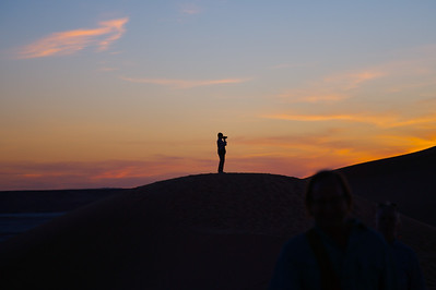 Sunset over the dunes near Ghadames, Libya