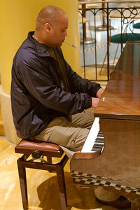 Mel Pleasant playing the piano