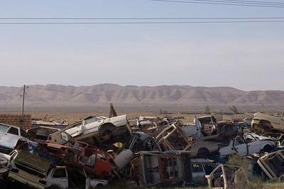 Used car graveyard in Libya