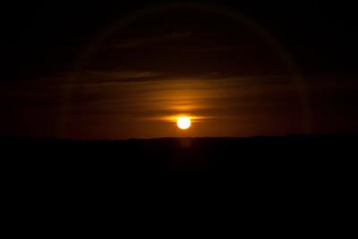 Sunset over the dunes near Ghadames, Libya