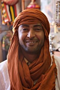 A merchant in Ghadames, Libya