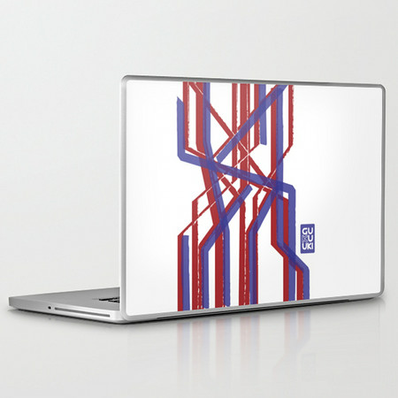 PAINTERLY STRIPES Laptop skin