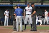 Tuesday, August 2, 2011 - Great Lakes Summer Collegiate League Baseball PLAYOFFS - Cincinnati Steam at Licking County Settlers played at Don Edwards Park located in Newark, Ohio