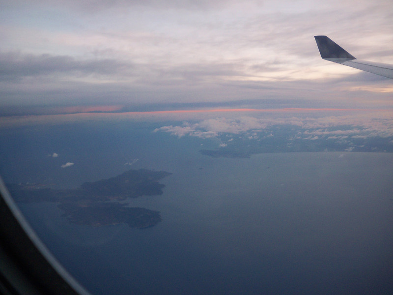 Flying into Roma