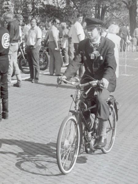 1991: Jízda do vrchu Nerudovou ulicí