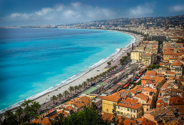 Old Town Nice and Promenade Des Anglais in the French Riviera