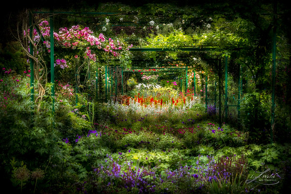 Monet's Lush Trellis Garden in Giverny, France