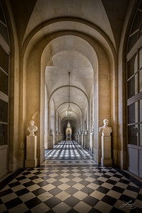 Hallway in Versailles, France