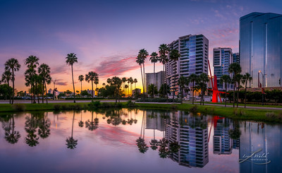 Downtown Sarasota, Florida Sunset Panorama