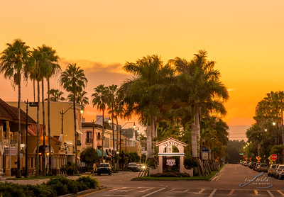 Warm Sunset in Historic Venice, Florida