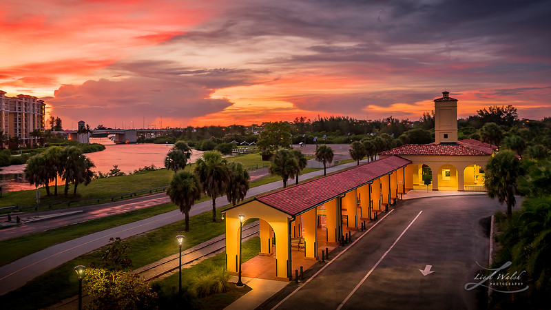 Sunset at the Train Depot in Venice, Florida 2