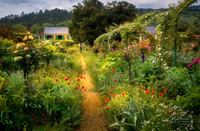 Lush Garden at Claude Monet's Home in Giverny, France 2