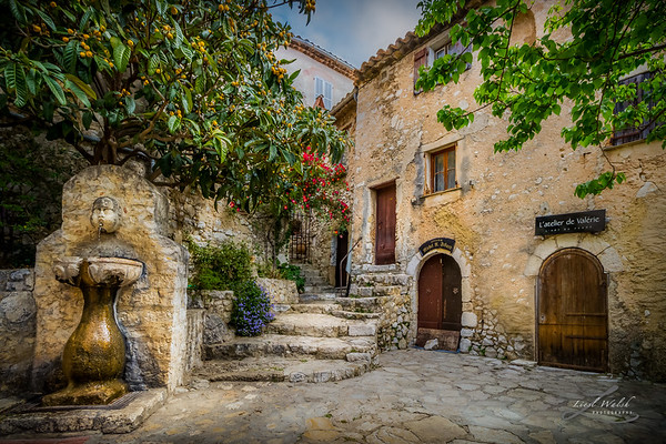 Fountain Courtyard In Eze, France 2