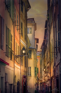 A Narrow Alley In Old Town Nice, France