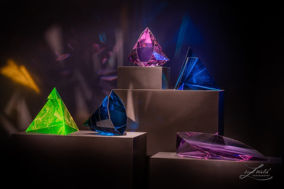 Colorful Glass Art at Imagine Museum