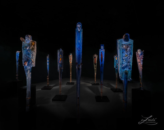 The Watchers, Glass Art at Imagine Museum