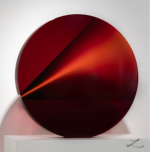 Red glass sculpture by Petr Hora at Imagine Museum