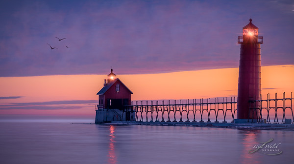 Grand Haven Lighthouse Catwalk, Michigan