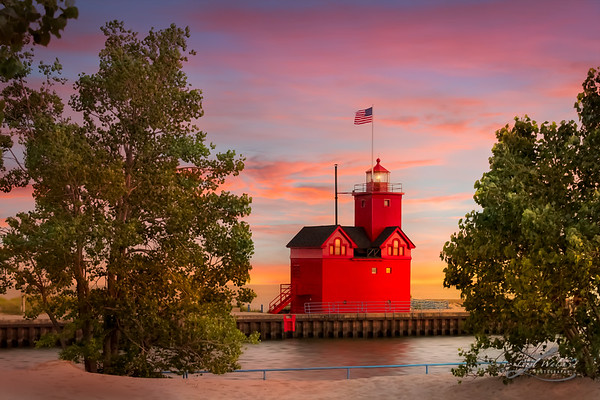 Big Red Lighthouse in Holland, Michigan