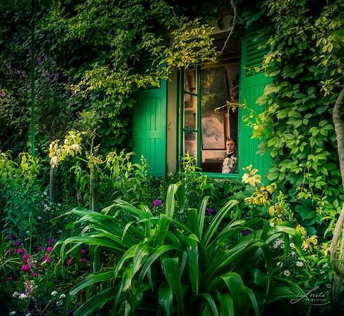 Claude Monet's Studio Window, Giverny France