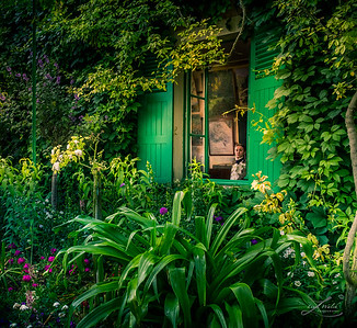 Claude Monet's Studio Window, Giverny France