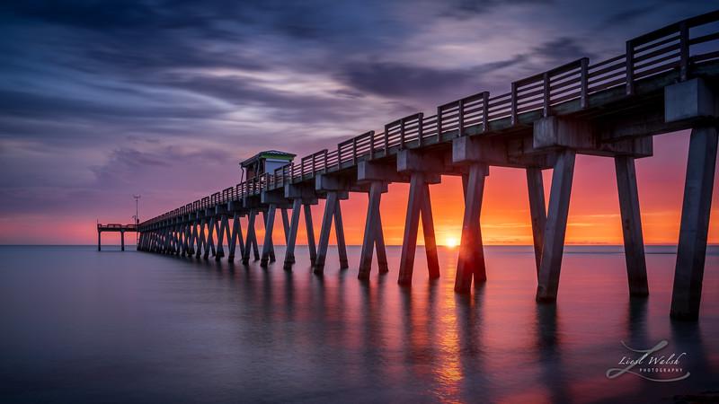 Venice Fishing Pier Sunset, Florida