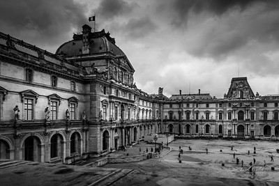 Storm Clouds Over the Louvre, Paris