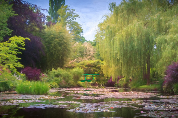 Claude Monet's Waterlily Pond, Giverny, France, Painterly