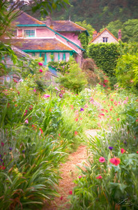 Monet's Garden Path In Giverny, Painterly
