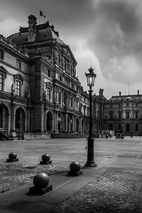Lamp in the Louvre Courtyard, Paris, France