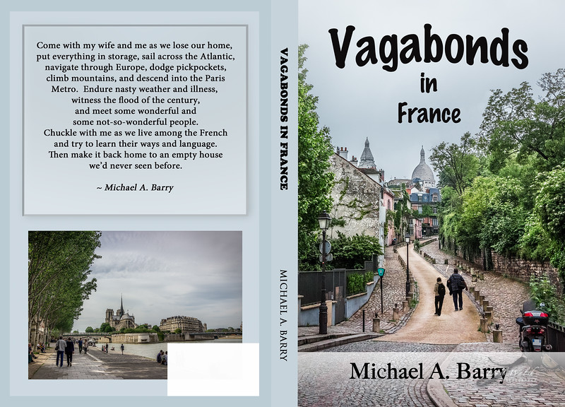 Vagabonds in France Book Cover, Front and Back
