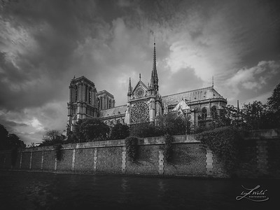 Notre Dame and the Seine River, Paris 2016