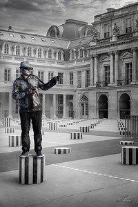 Street Performer at the Palais Royal, Paris, France