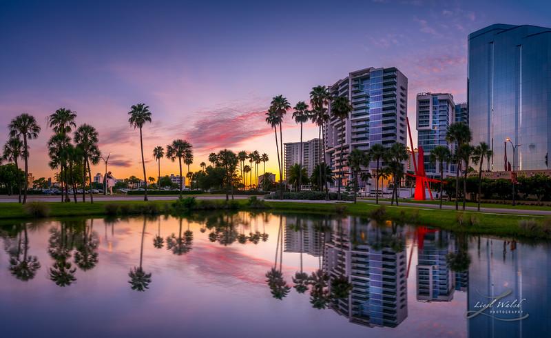 Downtown Sarasota, Florida Sunset Panorama