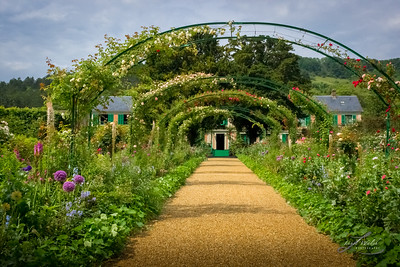 Arbor Walkway To Monet's Home, Giverny