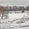Le parc de Woluwé sous la neige