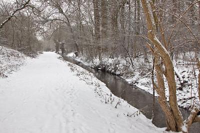 Vallée de la Woluwe en hiver