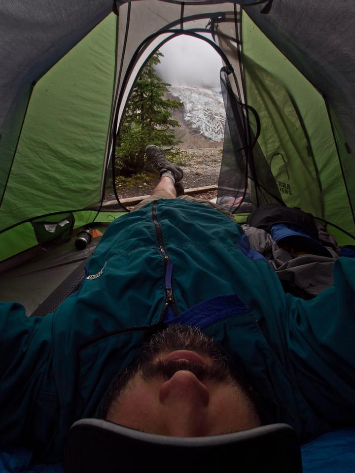 Resting at Marmot campsite