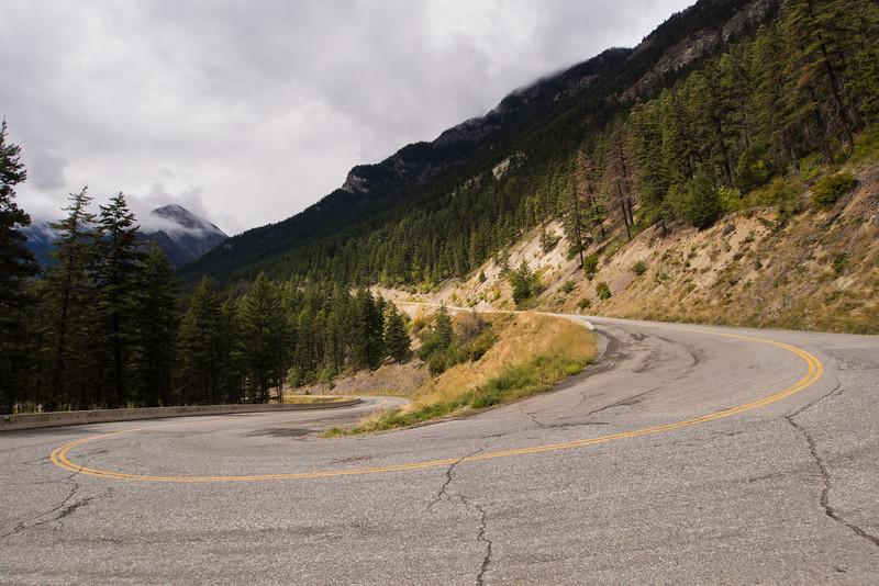 Switchback on Duffey Lake road
