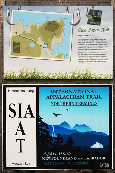 Northern terminus of International Appalachian Trail - Anse-aux-Meadows