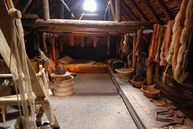 Intérieur de la maison de Viking - Anse-aux-Meadows