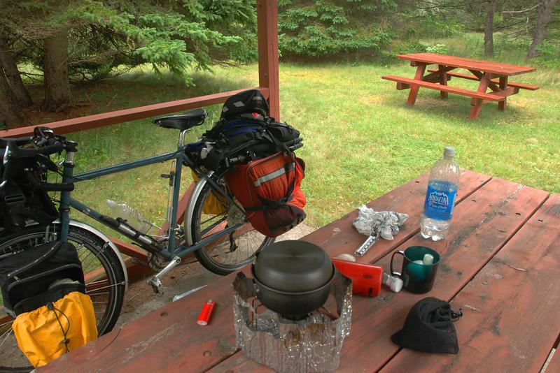 Pluie = soupe pour le lunch - Parc provincial de la plage Arisaig, Nouvelle-Écosse