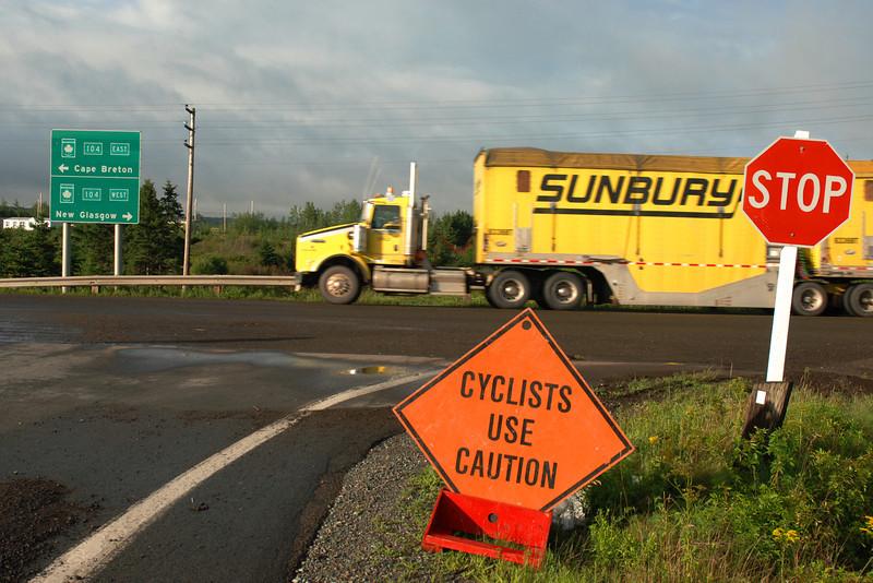 Cyclists use caution