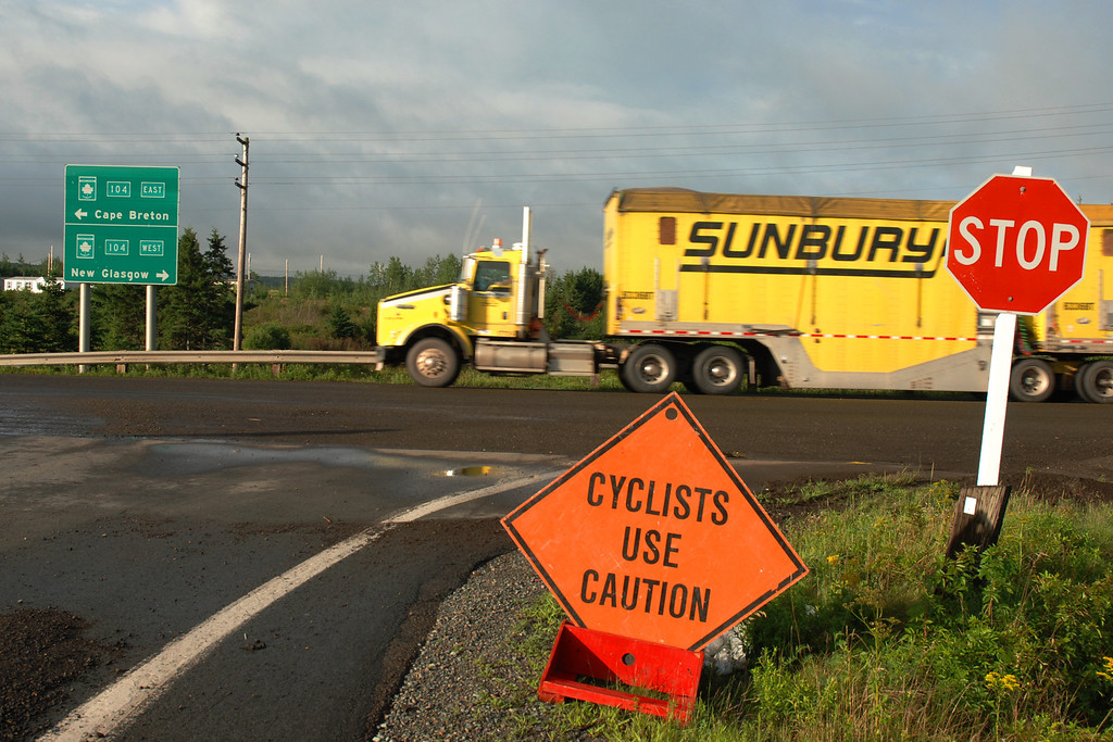 Cyclists use caution