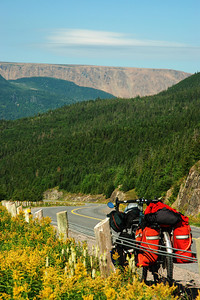 First glimpse at the Tablelands on highway 431 - Gros Morne