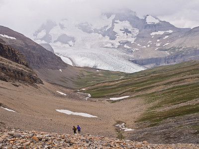 Hikers on Snowbird pass trail